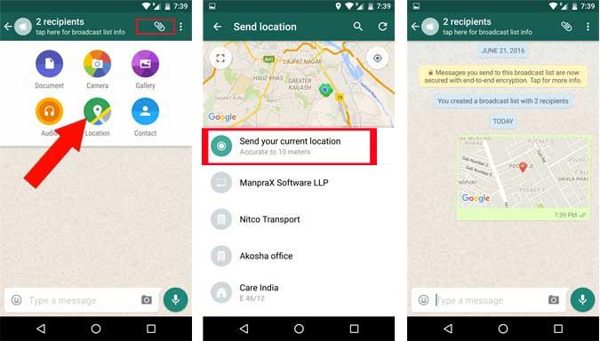 Cara Share Lokasi Melalui Whatsapp