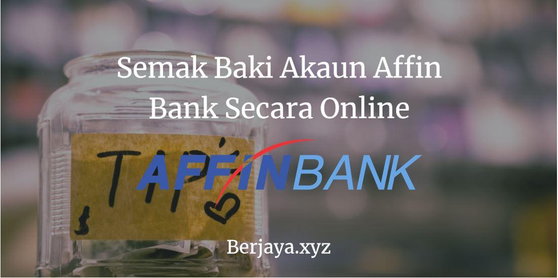 Semak Baki Akaun Affin Bank