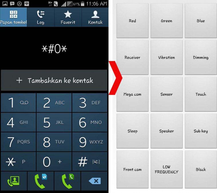 Semak Telefon Bimbit Samsung Melalui Hardware