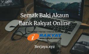 Semak Baki Akaun Bank Rakyat Online