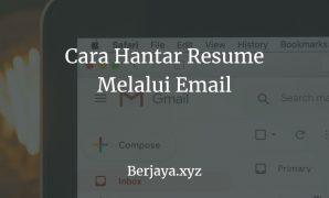 Cara Hantar Resume Melalui Email