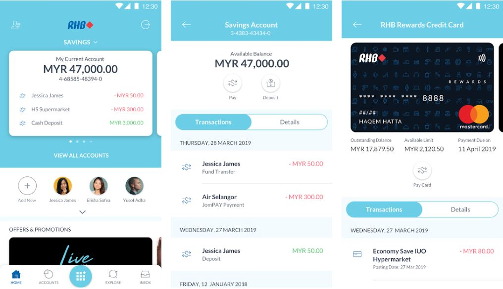 RHB Mobile Banking Transfer