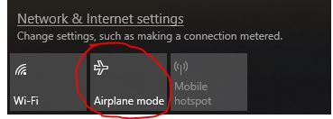 Cara Matikan Airplane Mode