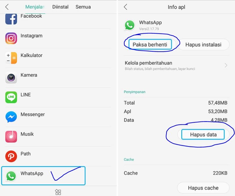 Cara Paksa Berhenti Whatsapp