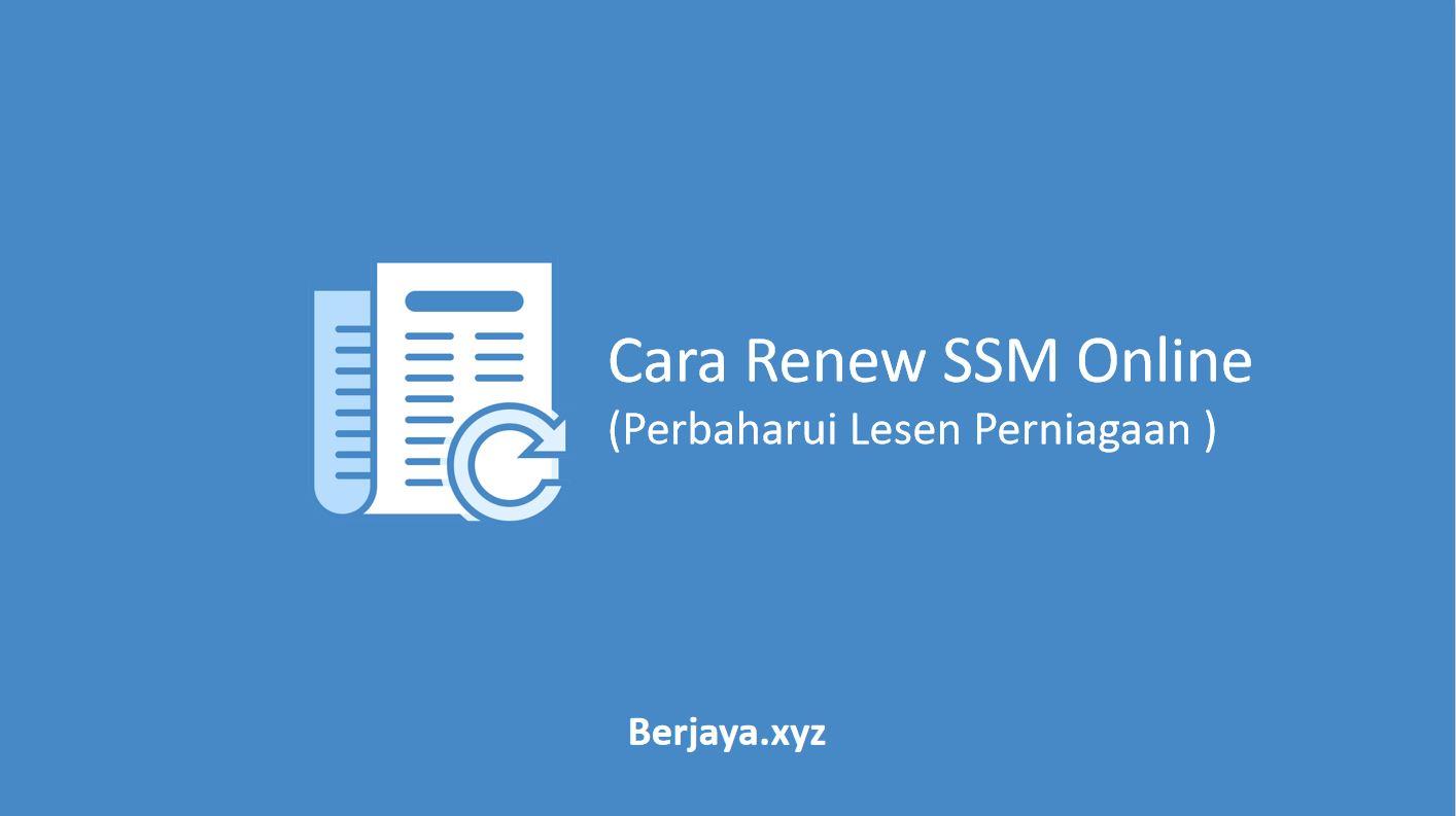 Cara Renew SSM Online